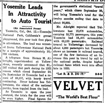 Yosemite Auto Tourist 1921 ed