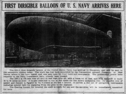 First Dirigible Balloon