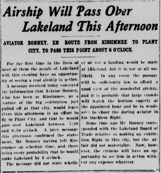 Lakeland airship prank