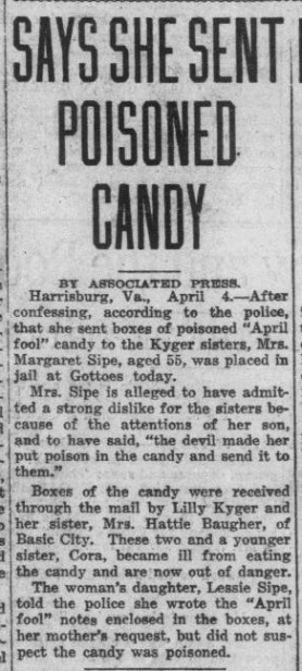 Says She Sent Poisoned Candy
