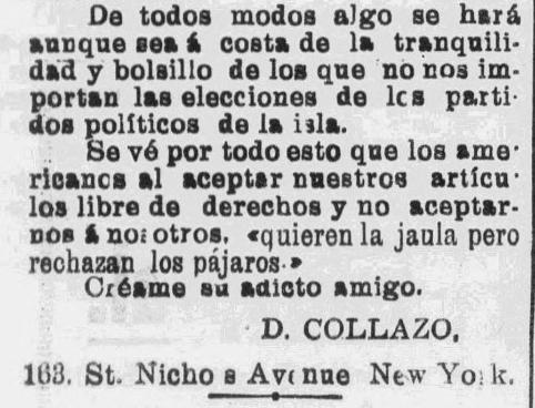 Snippet from La Correspondenica-1902