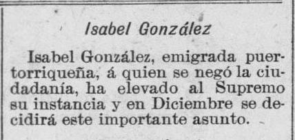 Snippet from La Democracia- March 18, 1903
