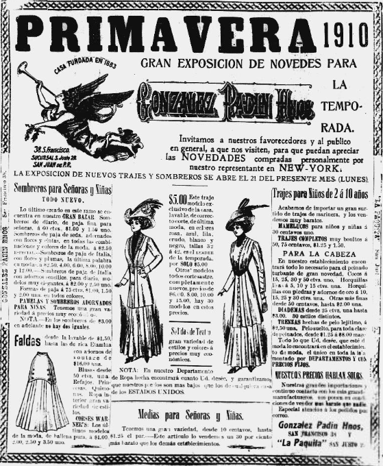 Snippet from La Correspondencia- March 28, 1910