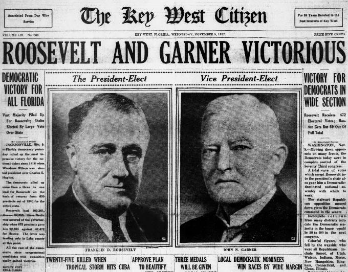 Roosevelt Elected