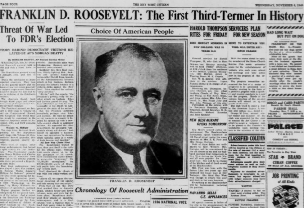 FDR 3rd term