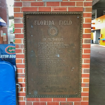 Florida Field Memorial in 2018