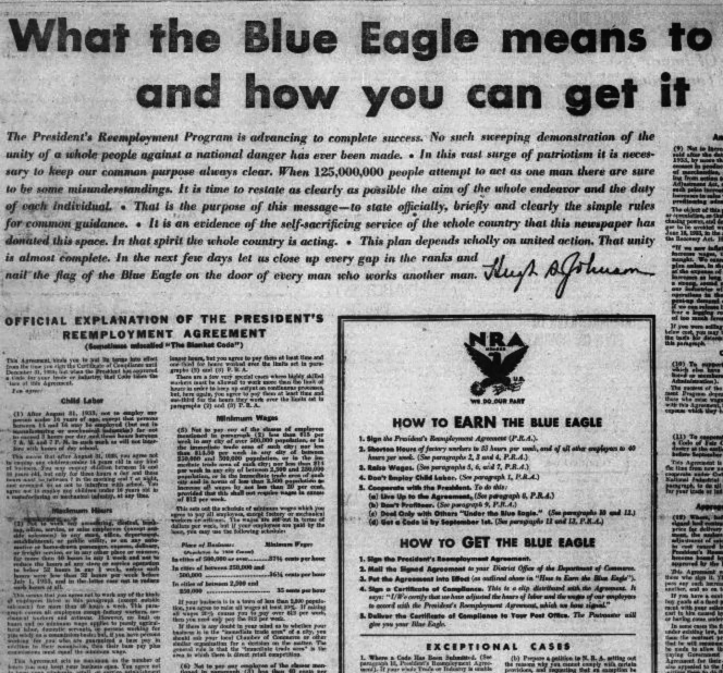 What the Blue Eagle Means