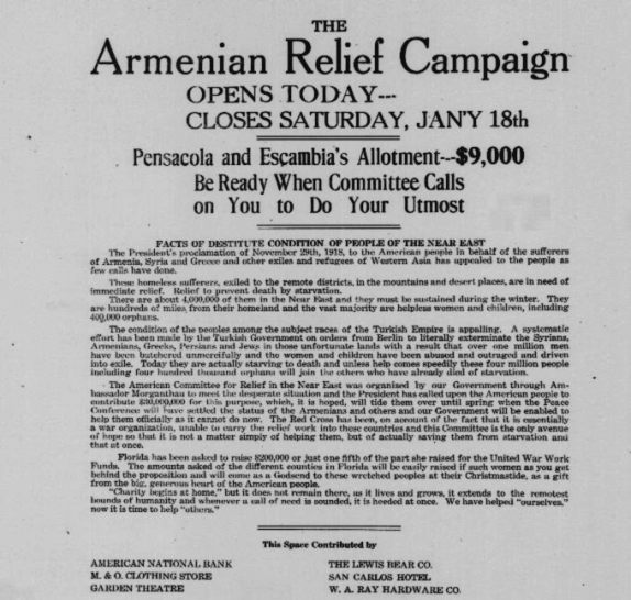 The Armenian Relief campaign